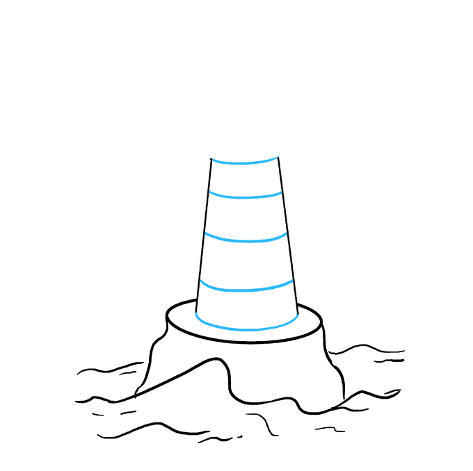 Drawing lighthouses water. How to draw a