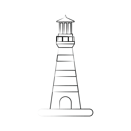 Drawing lighthouses creative. Lighthouse nautical icon image