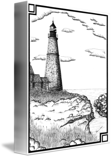 Drawing lighthouses pen and ink. Simple lighthouse by shane