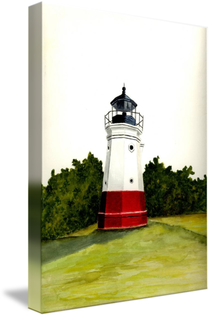 Drawing lighthouse pen ink. Vermilion by michael vigliotti