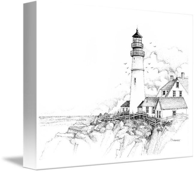drawing lighthouse surrealism