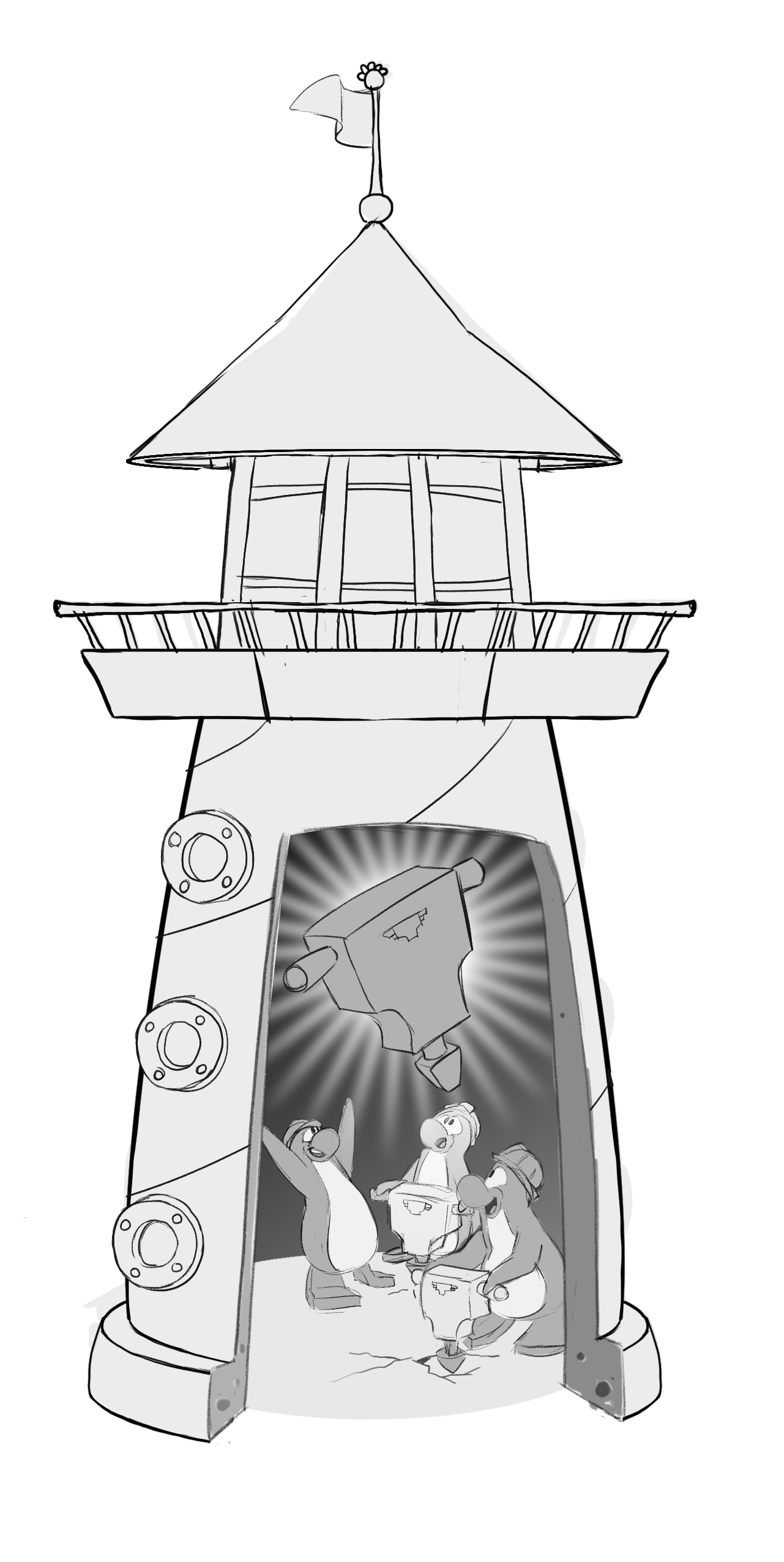 Drawing lighthouse pretty. Image fornewsfeed jackhammer png