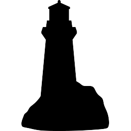 Drawing lighthouse silhouette. Free svg scan and