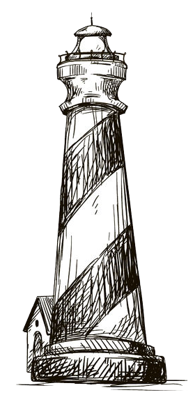 Drawing lighthouse sketch. Consulting review sterling compliance