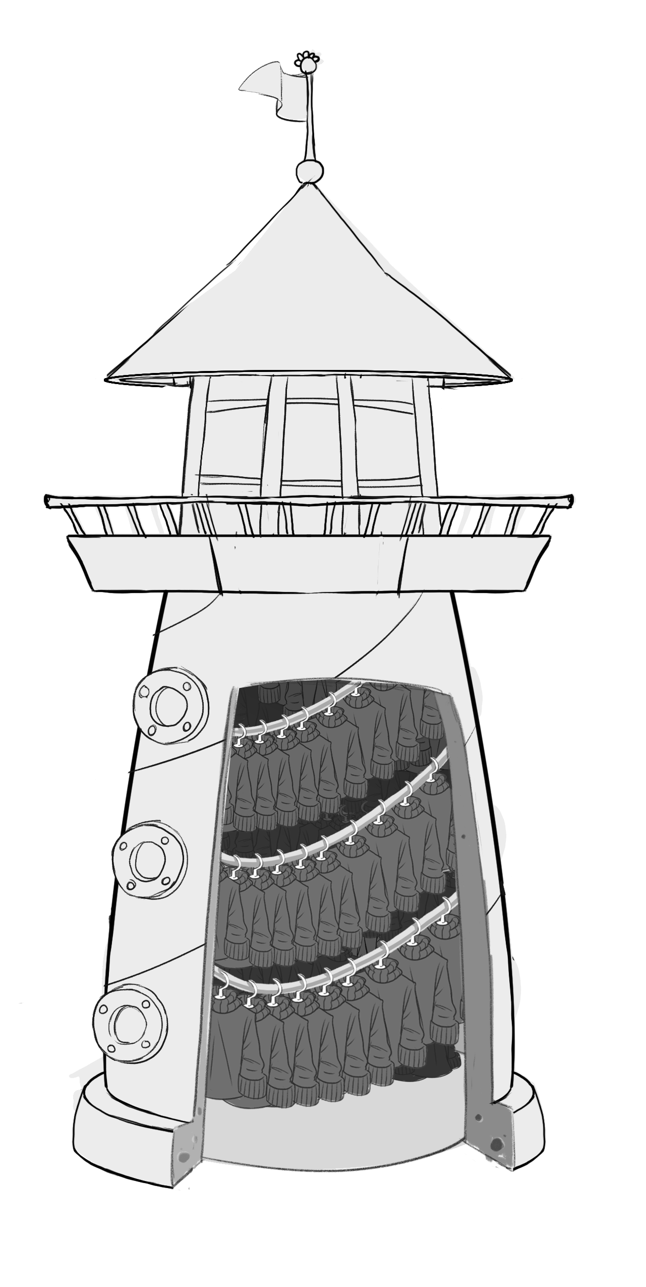 Drawing lighthouse sketch. Image fornewsfeed sweaters png
