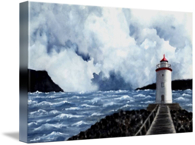 Drawing lighthouses charcoal. Hogsteinen lighthouse by michael