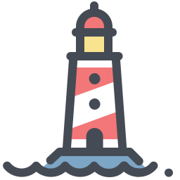 Vector lighthouse small traditional. Red icon kostenloser download