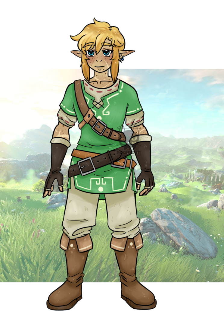 Drawing link botw. Au by goopycat on