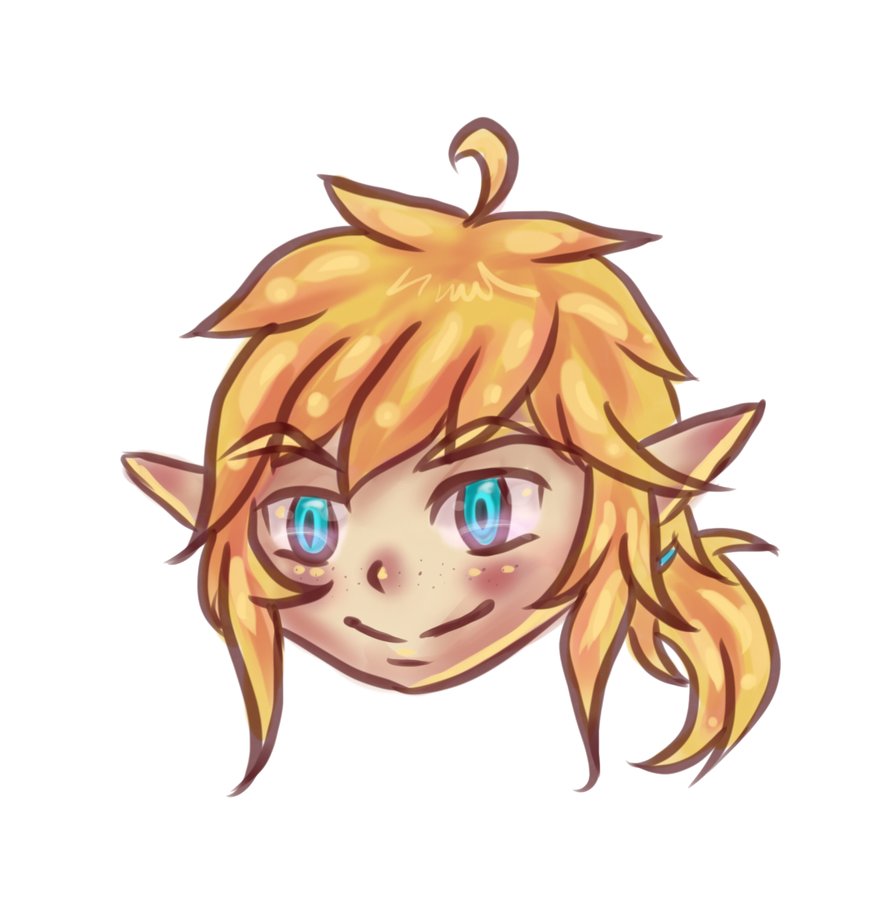 Drawing link expression. Carrots for funkynary chibi