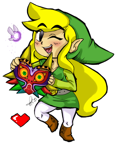 Drawing link deviantart. Female toon majoras mask