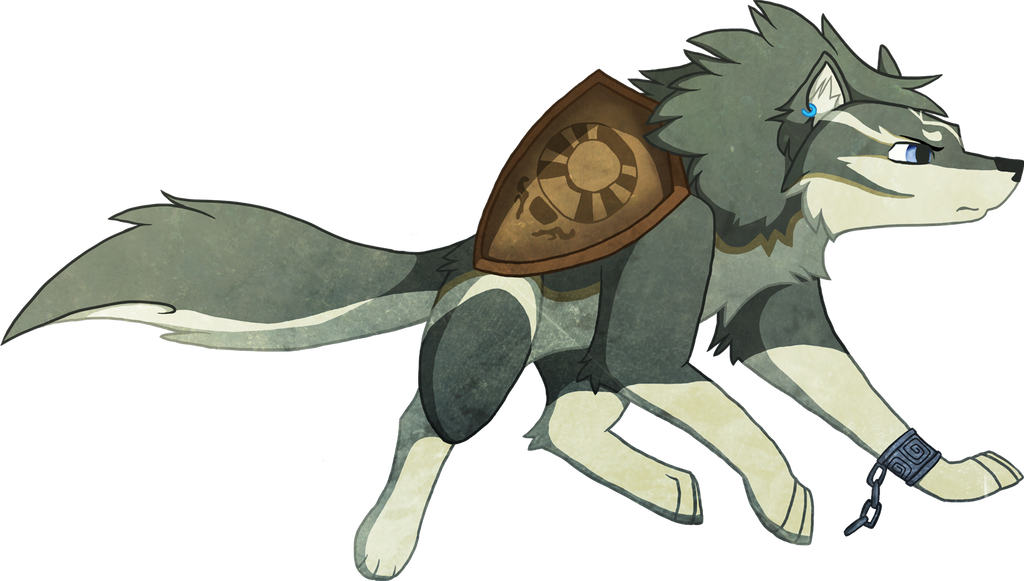 Drawing link deviantart. Wolf with ordon shield