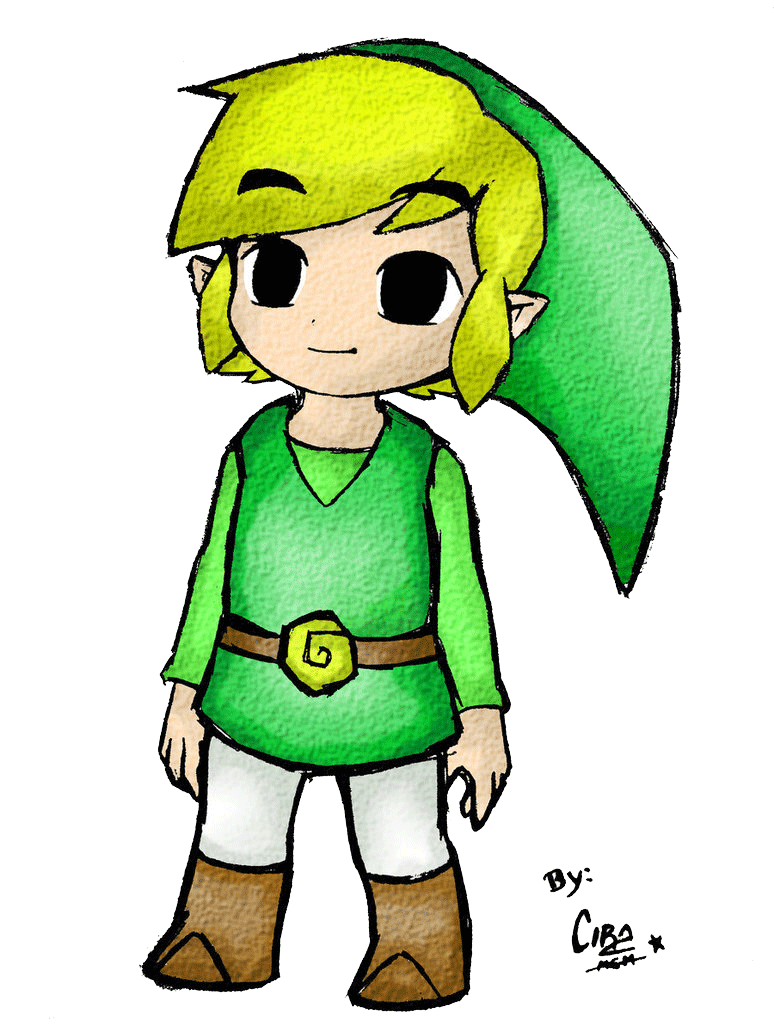 Drawing link toon. By cirawashere on deviantart