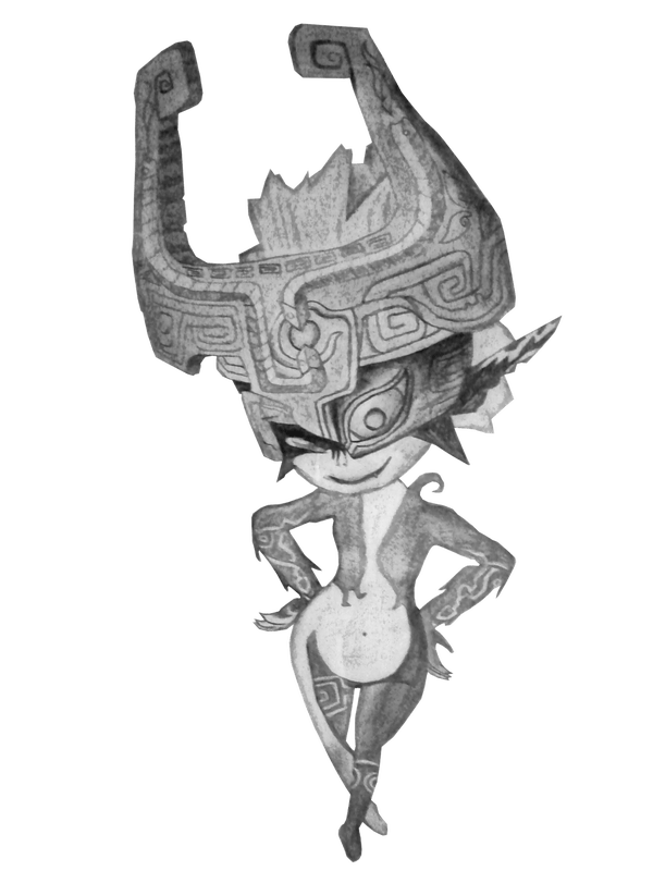 Midna drawing draw. How to link from