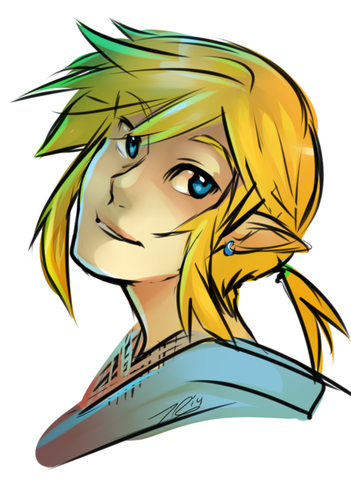 Drawing link video game character. Tyscribs here have some