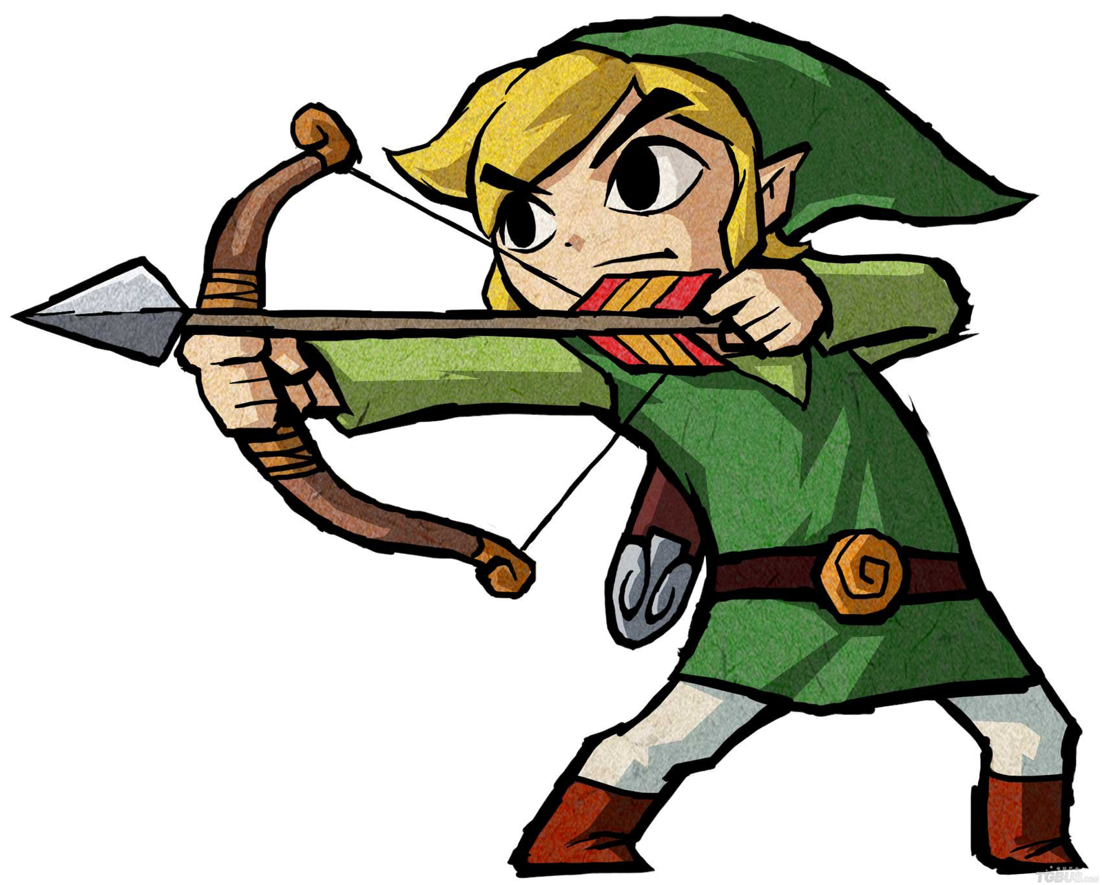 Drawing link video game character. The purpose for concept