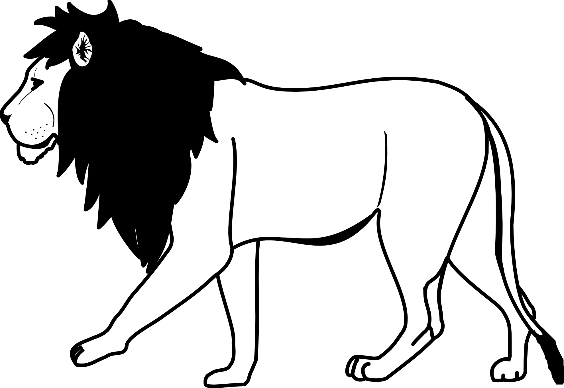 Images for black and. Drawing lions svg library download