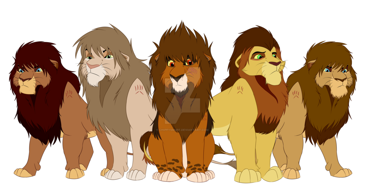 Drawing lions directed. The first lion guard