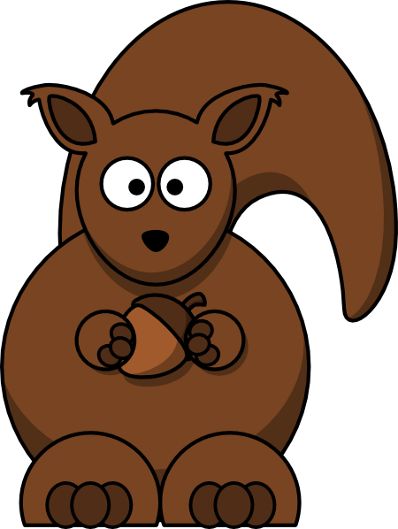 vector squirrel stylized