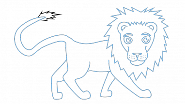 Drawing lions easy. Photos step by lion