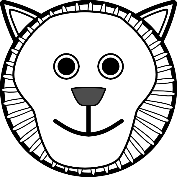 Zero drawing face. Free lion cliparts download
