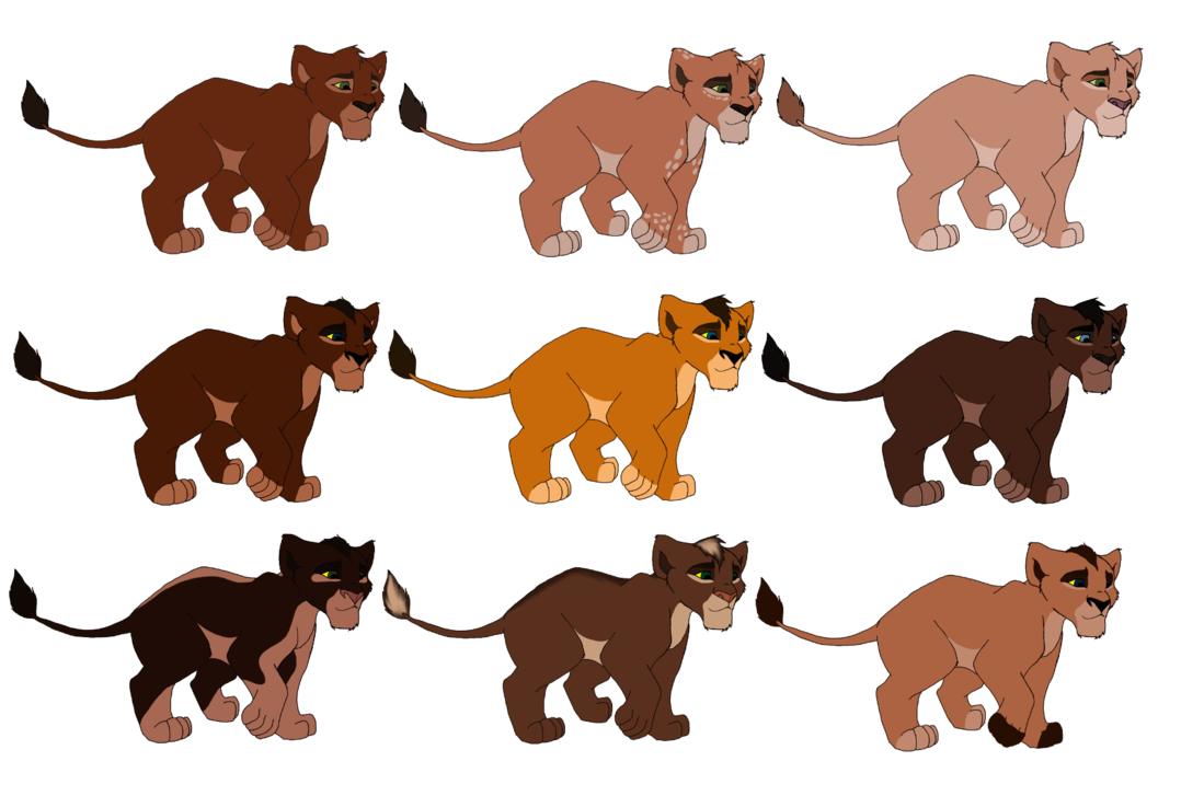 Drawing lions male lion. Some cute tlk adopts