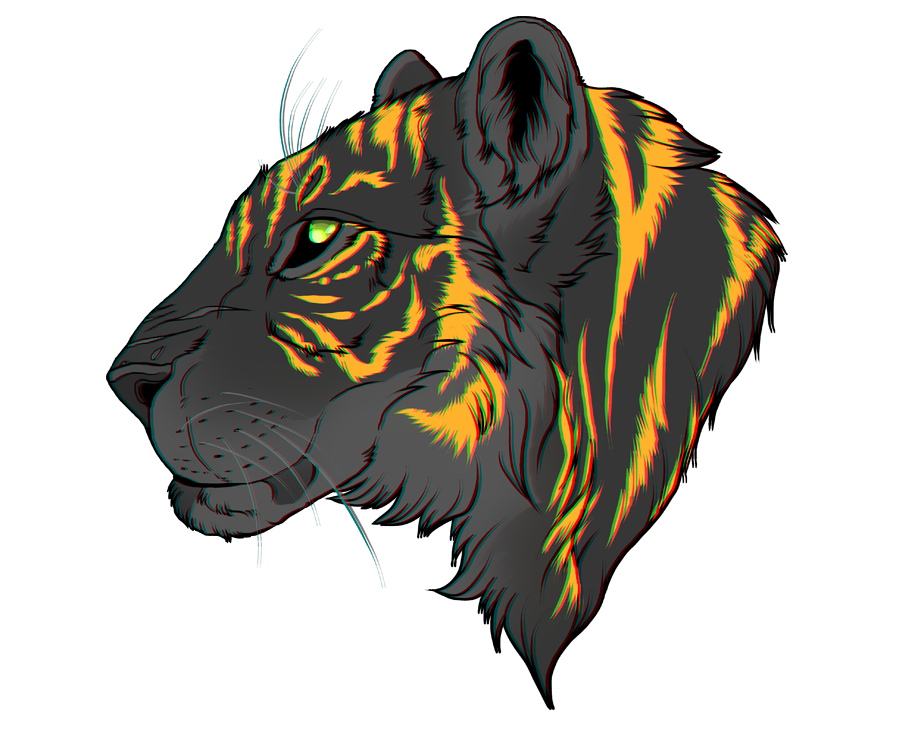 Drawing lions tiger. Spike by daexmos on