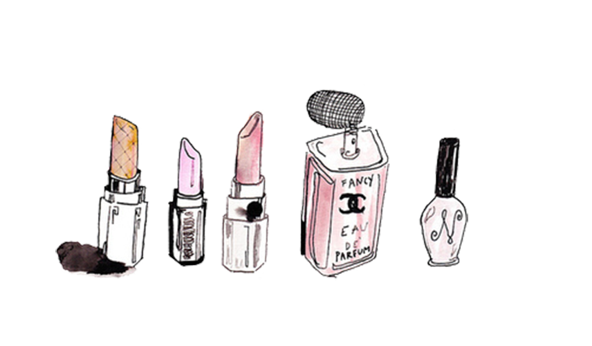 Chanel drawing lipstick. Cosmetics concealer perfume various
