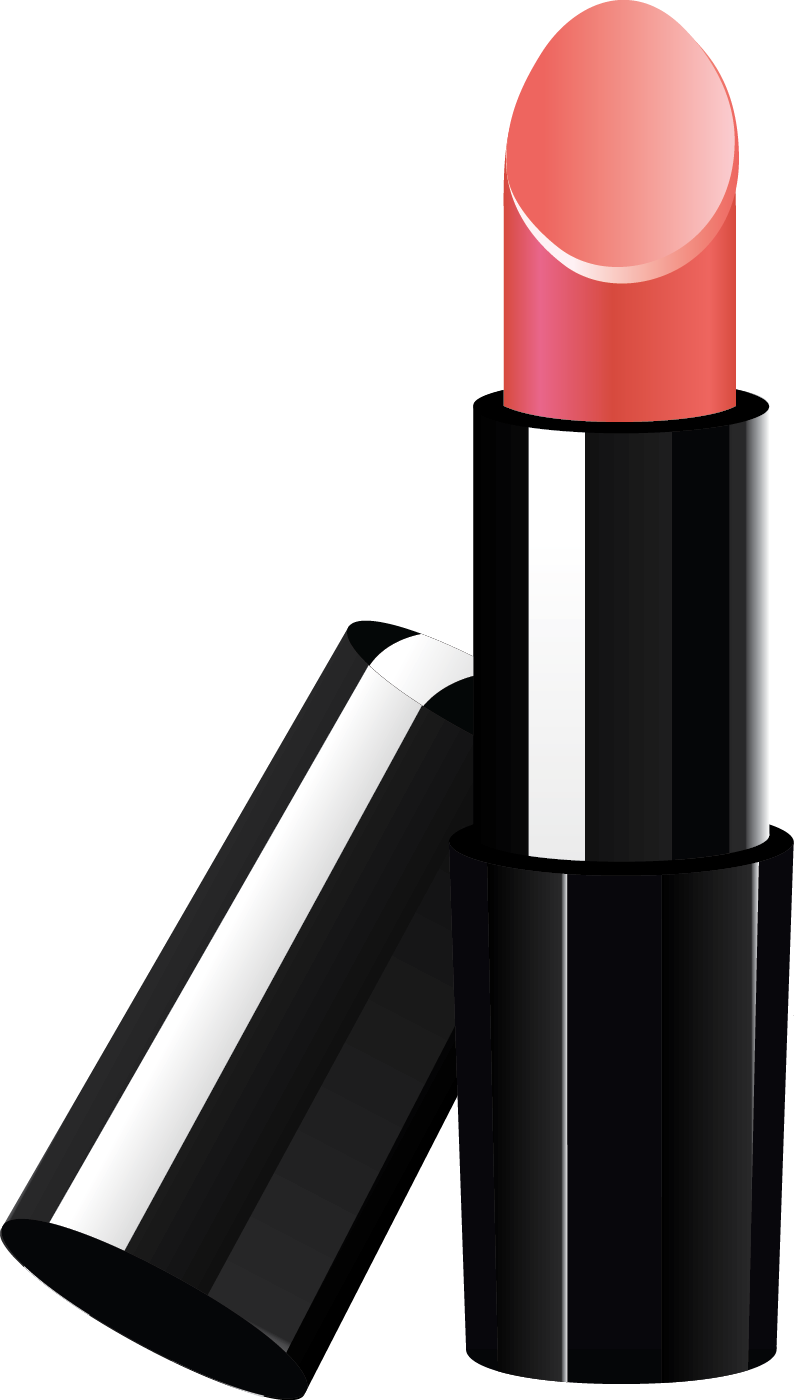 Drawing lipstick simple. Collection of free blacking