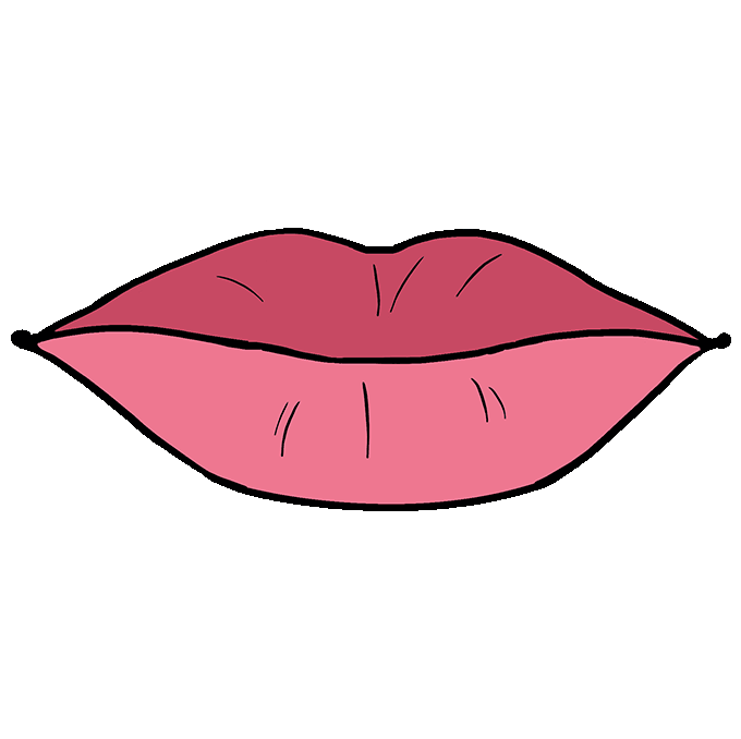 Drawing lipstick sketch. How to draw lips