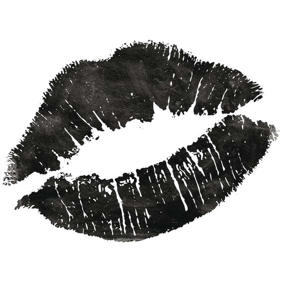 Drawing lipstick sketch. Lip black and white
