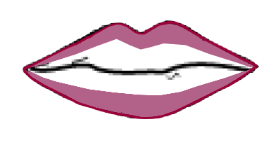 Drawing lipstick traditional. Two tone and ombre