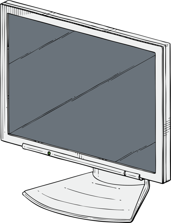 Monitor drawing isometric. Flat panel display computer