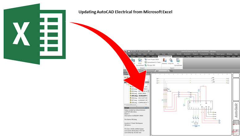 Drawing log excel. Updating autocad electrical from