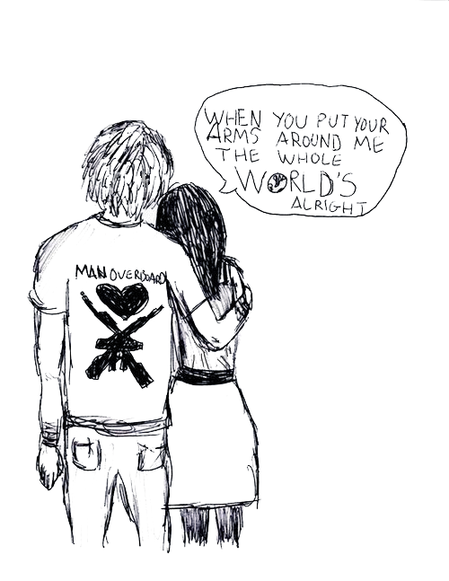 Drawing lyrics pop punk. Image about in overlays