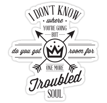 Drawing lyrics pop punk. Troubled soul sticker by