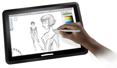 Drawing mac tablet. For best clipart images