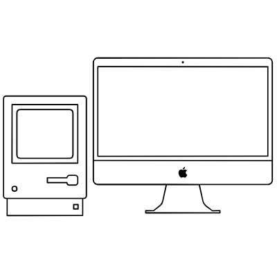 drawing computers outline