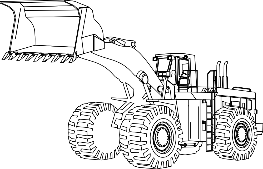 Drawing tractors coloring page. Construction equipment at getdrawings