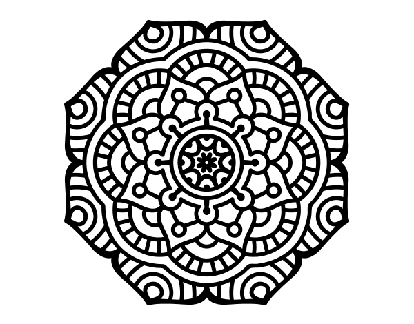 Drawing creatively pattern. Dibujo de mandala flor
