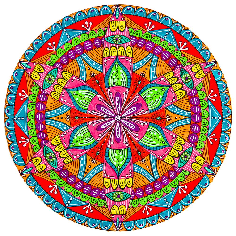 Drawing mandala cute. How to draw a