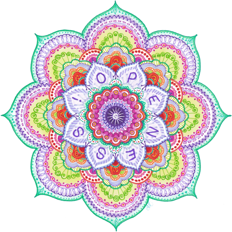 Drawing mandala practice. By carol ivy how
