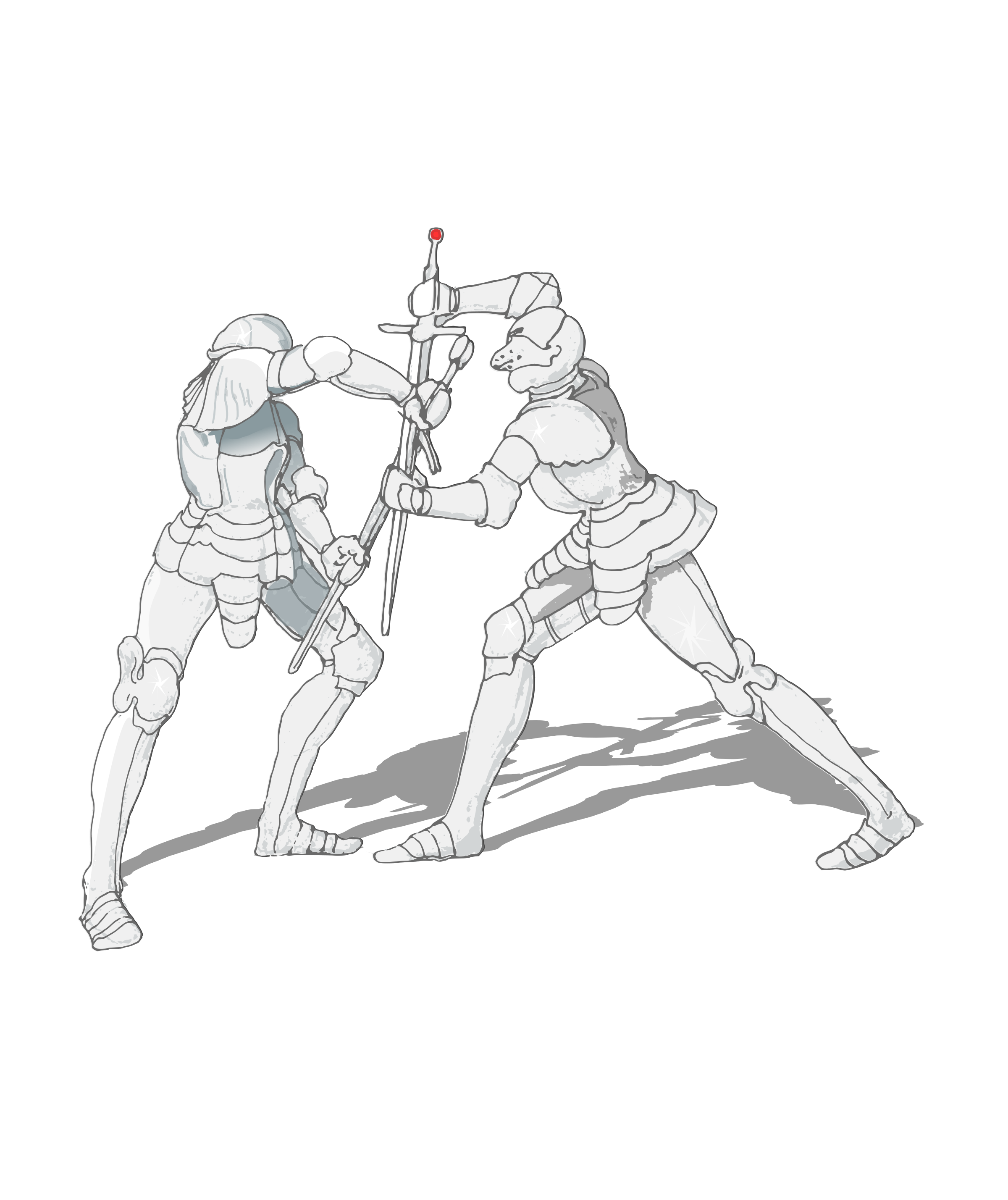 Drawing mannequins fighting. Sword fight at getdrawings