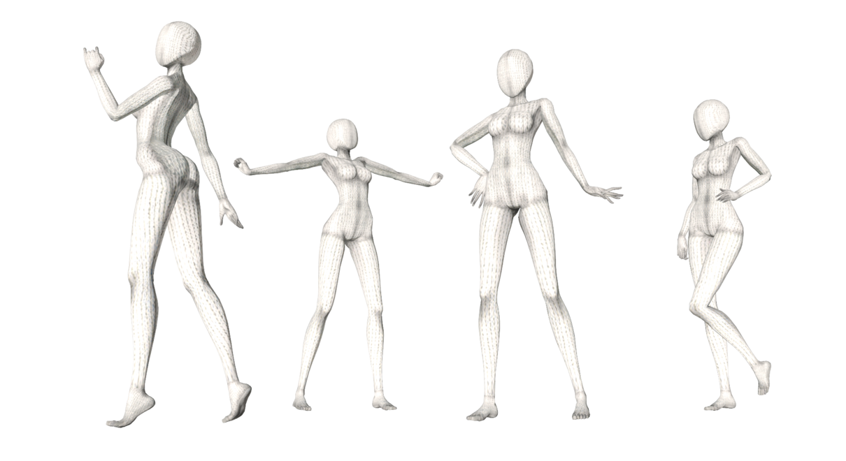 Drawing mannequins gesture. Pose pack by mikutatsune