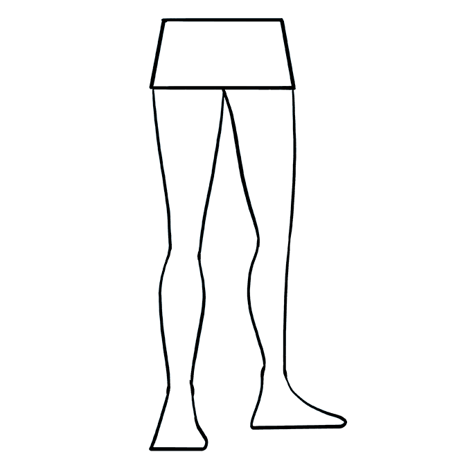 Drawing mannequins front back. How to draw legs