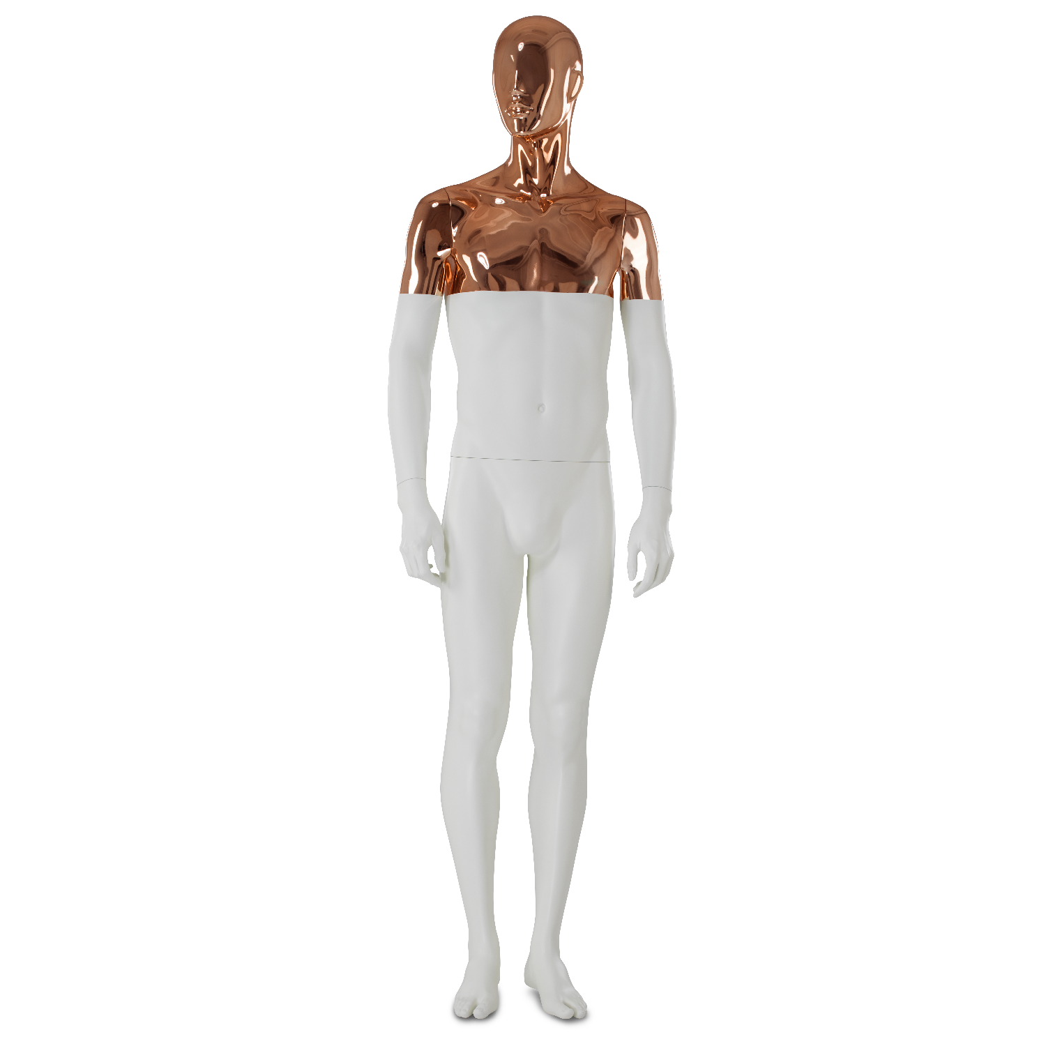 Drawing mannequins visual merchandising. Paris white copper by