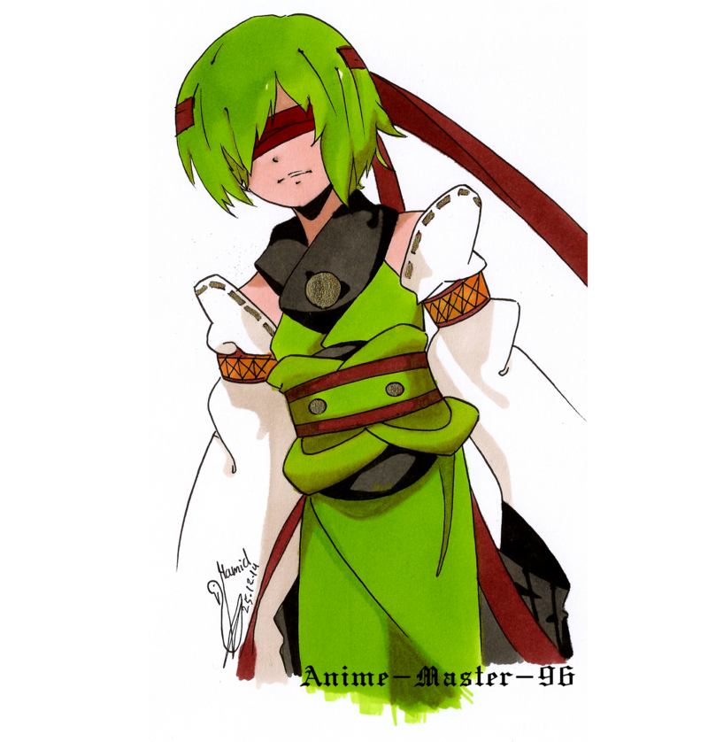 Drawing marker. Anime first upload of