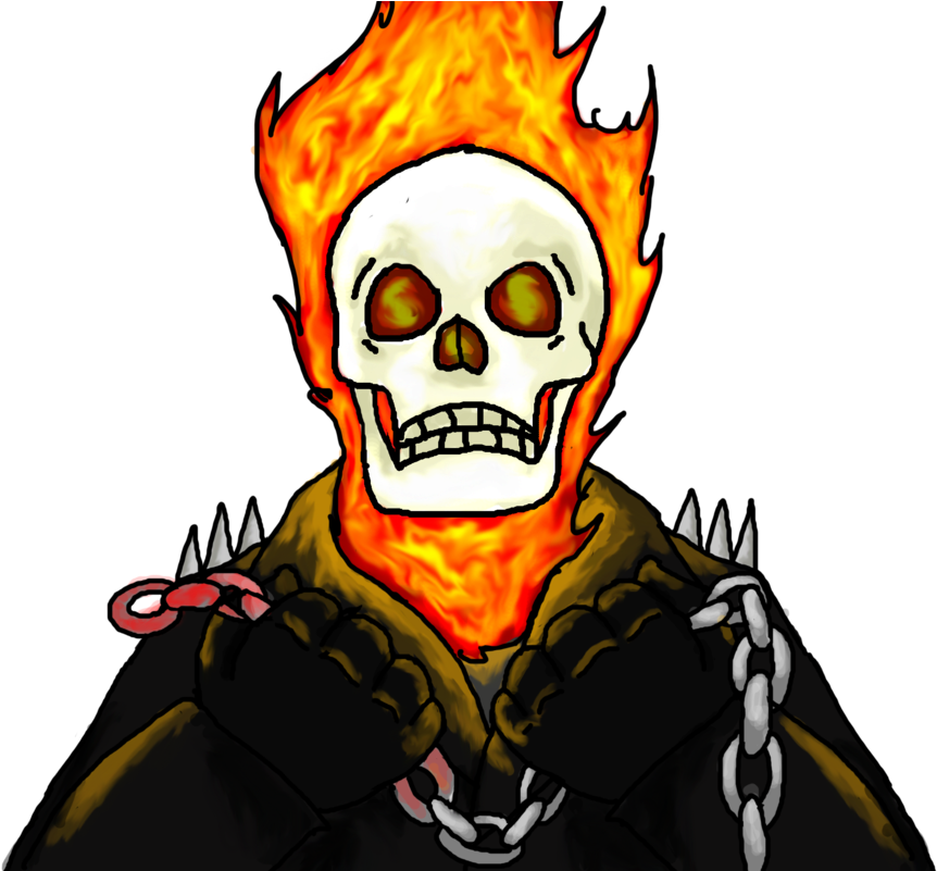 Drawing marker art. Download hd ghost rider