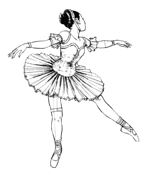 Drawing marker ballerina. Transparent tumblr free to