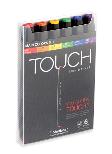 Markers drawing design. Shinhan art touch twin
