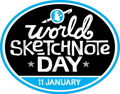 Drawing marker doodle. World sketchnote day learning